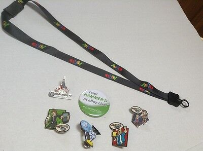 eBay Live Convention 2008 Chicago lanyard & Collectors Pins