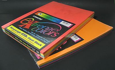 Extreme Colors 225 Sheet Heavy Weight Rainbow Colored Printer Paper 8.5x11 A4