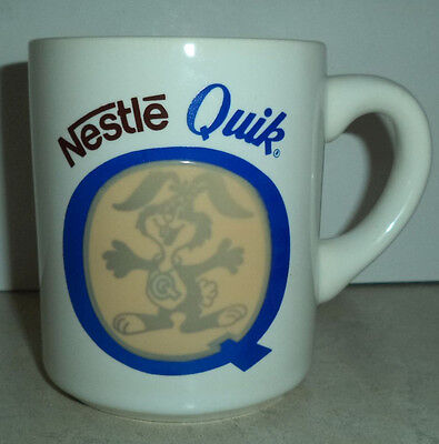 Nestle Quik Advertising Bunny Rabbit on Temperature Activated Hot Cocoa Mug