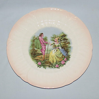 Shelley Oleander shape Courting display plate 28cm diameter