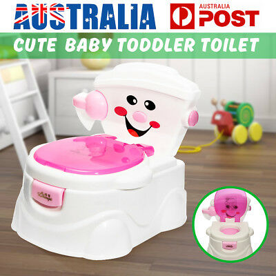 2 in 1 Kids Baby Toilet Training Children Toddler Potty Trainer Safe Seat Chair