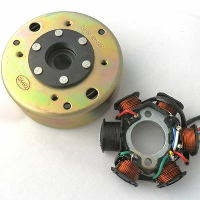 Magneto Stator AC 6 POLE FLYWHEEL PULLER QUALIFIEDSCOOTER GY6 125CC 150CC