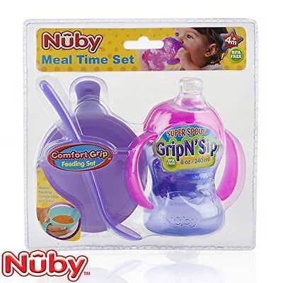 Nuby Meal Time Set & Gripsip Cup