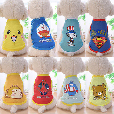 2017 Summer Various Pet Puppy Small Dog Cat Pet Clothes Vest T Shirt Apparel