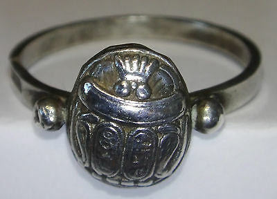 Ring reproduction Egypt Scarab Sterling Silver