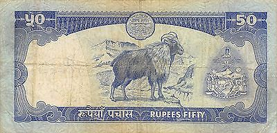 Nepal  50 Rupees  ND. 1983  P 33a  Sign. # 10  Circulated Banknote M27Jw