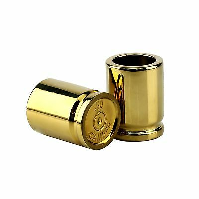 Barbuzzo 50 Caliber Shot Glass - Set of 2 Shot Glasses Shaped like Bullet Cas...
