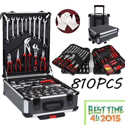 710Pcs Tool Set Case Mechanics Kit Box Organize Castors Toolbox Trolley UK