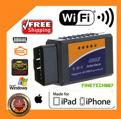 ELM327 WiFi OBD2 OBDII Car Diagnostic Scanner Code Reader Tool for iOS &AndroiDS