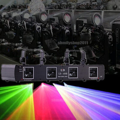 760mW 4 Beams 4 Lens RGYB  DJ Laser Light Lamp DMX 7CH Disco Club Stage Party