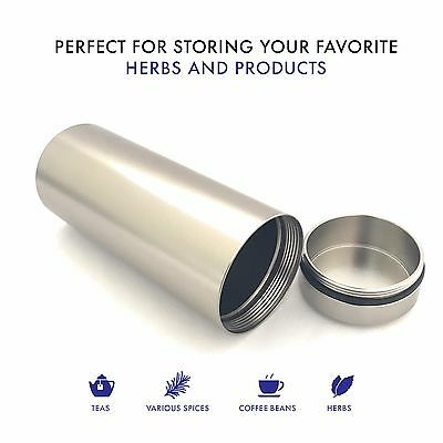 Stash Jar - Aluminum Herb  Jar  - Airtight Smell Proof Container - 1/2 oz herb