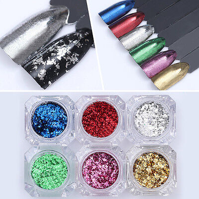 Colorful Irregular Nail Sequins Glitter Paillette Nail Flakes Powder BORN PRETTY