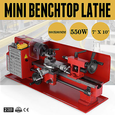 """7"""" x 10""""  In Precision Mini Benchtop Lathe Metal Variable-Speed High Quality"""