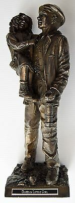 """""""Daddy's Little Girl"""" (miner carrying Daughter) Bronze - Hand Crafted - 335b"""