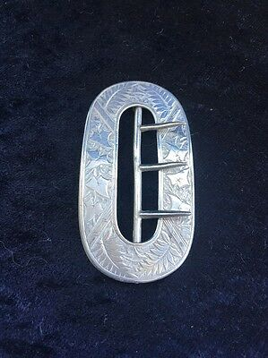 Gorgeous Chester Victorian Sterling Silver Belt Buckle 1887