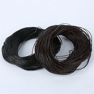 Top Quality Round 1mm 2mm 3mm Real Leather Thong Cord Necklace Pendant Crafts