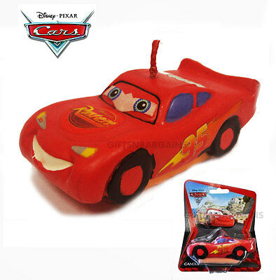 Cars Lightning McQueen 3D Candle Boys Birthday Party Themed Cake Licensed