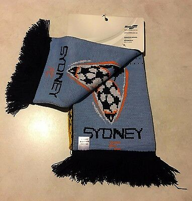 'BNWT' 2007  LA Galaxy / Sydney FC supporter scarf Acrylic the Beckham game.