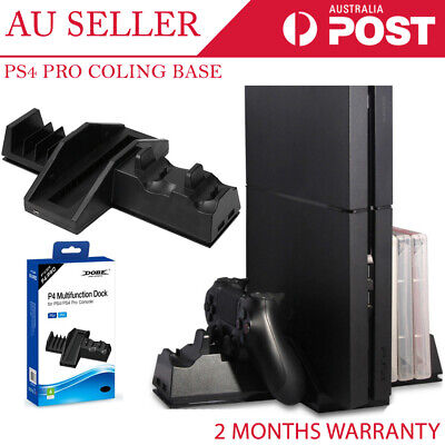 Multi FUnction Dock Cooling Fan Stand Charger Controller Disc Holder for PS4 Pro