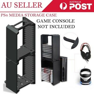 100% New Tower Media Holder Case Stand 24x Games and DVD Disc Blu-ray Storage