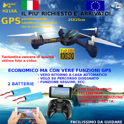 Drone GPS Hubsan H216A video in diretta e guida da smarphone APP camera HD