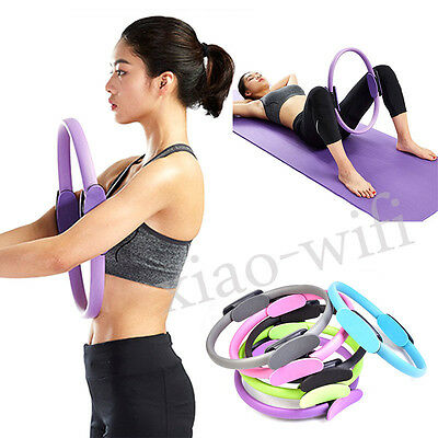 Pilates Resistance Ring Circle Gymnastics Fitness Yoga Aerobic Double Handle