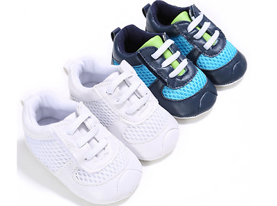 Baby Boys Crib Shoes Infant Sneakers Toddler Pre Walker Trainers Newborn to 18 M