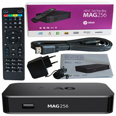 MAG 256 w2 WLAN WiFi 600Mb integrated onboard Streamer SET TOP BOX Internet IPTV