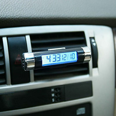 Auto Car Dashboard Digital LCD Display Mini Thermometer Time Clock Calendar New