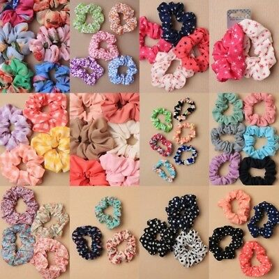 Pack Of Fabric Scrunchies, Hair Bands, Girls, Ladies, Fashion Everyday School