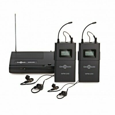 Wireless In Ear Monitor System Pack by Gear4music 2 Receivers