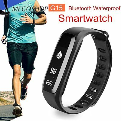 Bluetooth Blood Pressure Oxygen Heart Rate Monitor Smart Band Bracelet Watch OP