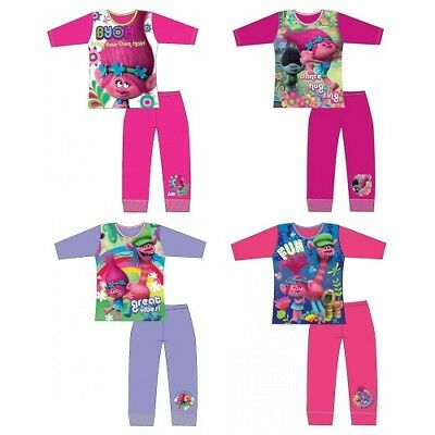 Trolls Poppy Pyjamas Girls Pjs Kids Sleepwear 3-4,5-6,7-8-9-10 Years