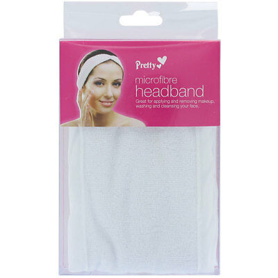 Pretty White Microfibre Adjustable Make-Up Headband