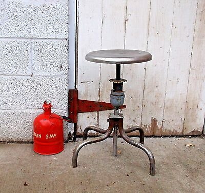 Vintage CHIC INDUSTRIAL SALVAGE Stool Machine Age Shop Chair STEAMPUNK Antique