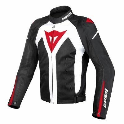 Dainese Hyper Flux D-dry Motorcycle Jacket Black White Red 2017