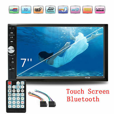 7 Inch Double 2DIN Car FM Stereo Radio USB/DVD/MP5 Player Touch Screen Bluetooth