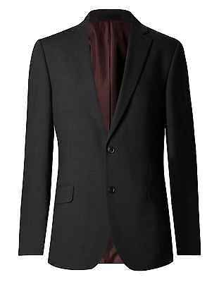 Mens Suit Jacket M&s Collection Charcoal Regular Fit Performance Brand New