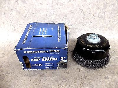 "NEW Forney 72860 Industrial Pro 5"" Crimped Wire Cup Brush ~FREE SHIPPING"
