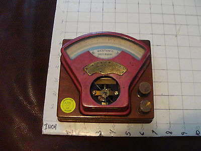 vintage METER from Elli Buk collection: WESTON Direct-Reading AMMETER Early Cool