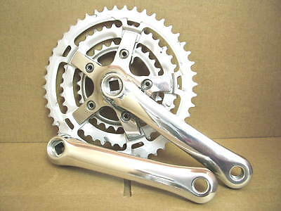 NOS Shimano Comfort Series Crankset w/170mm Crankarms and 48x38x28 Chainrings