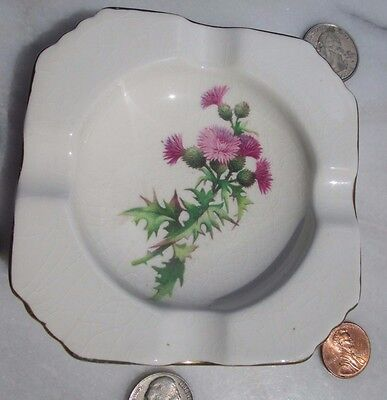 Royal Winton Grimwades Vintage Ashtray with Thistle Decoration Made in England