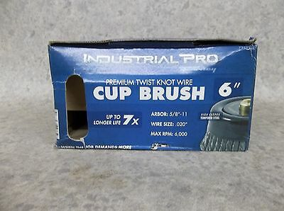 "NEW Forney 72871 Industrial Pro 6"" Twist Knot Wire Cup Brush ~FREE SHIPPING"