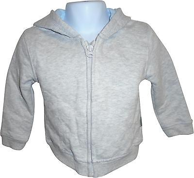 USED Boys Nutmeg Grey Zip Up Hooded Jacket Size 9-12 Months (E.W)
