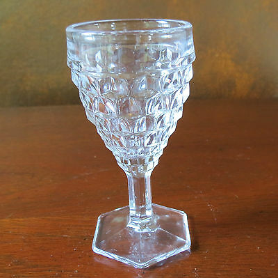"""Fostoria American Clear 4 ½"""" Hex Footed Wine Goblet(s)"""