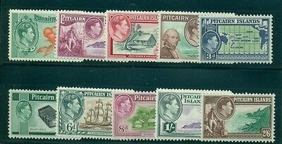 PITCAIRN ISLAND #1-8 (with A#s) Complete set, og, LH, VF, Scott $69.90