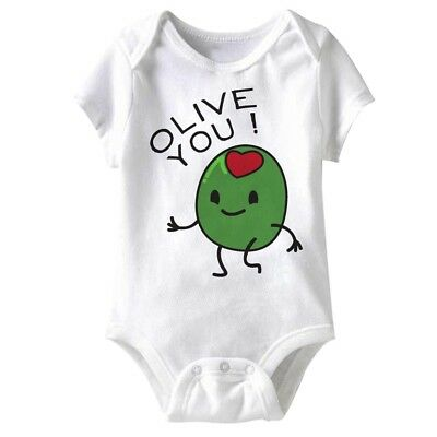 American Classics Olive You Infant Baby Snapsuit Romper