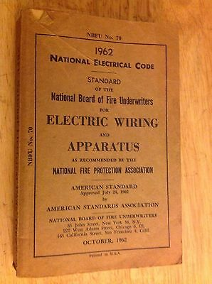 1962 National Electric Code Book ,used