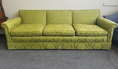 Mid-Century Floral Milo Baughman - Florance Knoll Style Sofa  By W & J Sloane