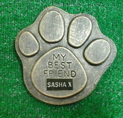 Dog Large Pet Memorial/headstone/stone/grave marker/memorial paw with plaque 11